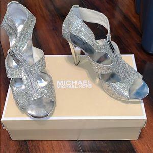 Silver Michael Kors Heels